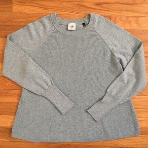 CAbi sky blue swing sweater/size M. Crew neck.